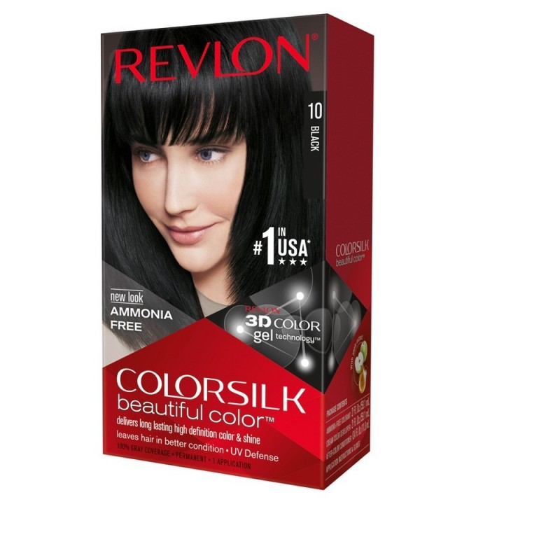 Revlon Colorsilk Permanent Haircolor 10 Black