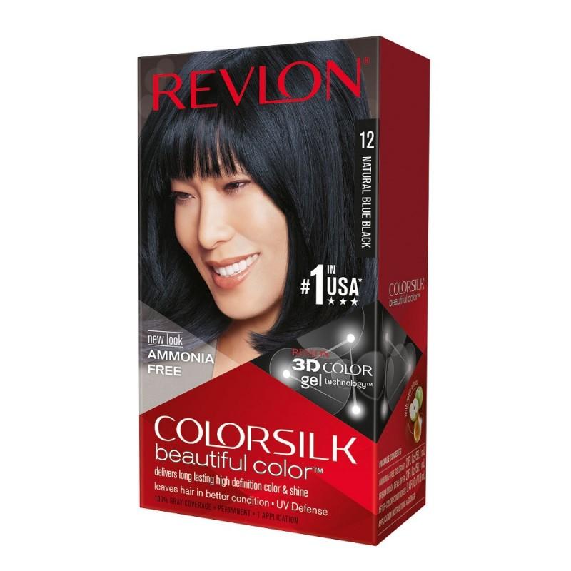 Revlon Colorsilk Permanent Haircolor 12 Natural Blue Black