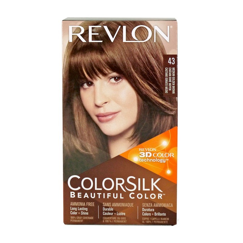 Revlon Colorsilk Permanent Haircolor 43 Medium Golden Brown