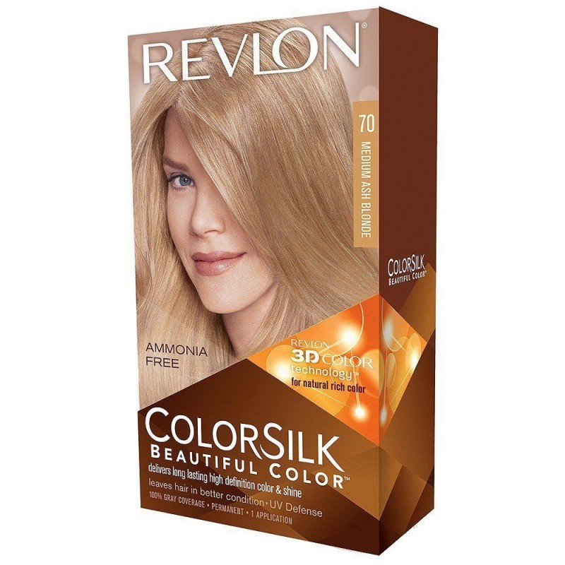 Revlon Colorsilk Permanent Haircolor 70 Medium Ash Blonde