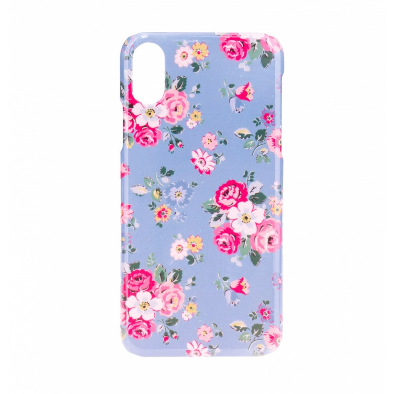 BasicsMobile Floral Baby Blue iPhone X/XS Cover