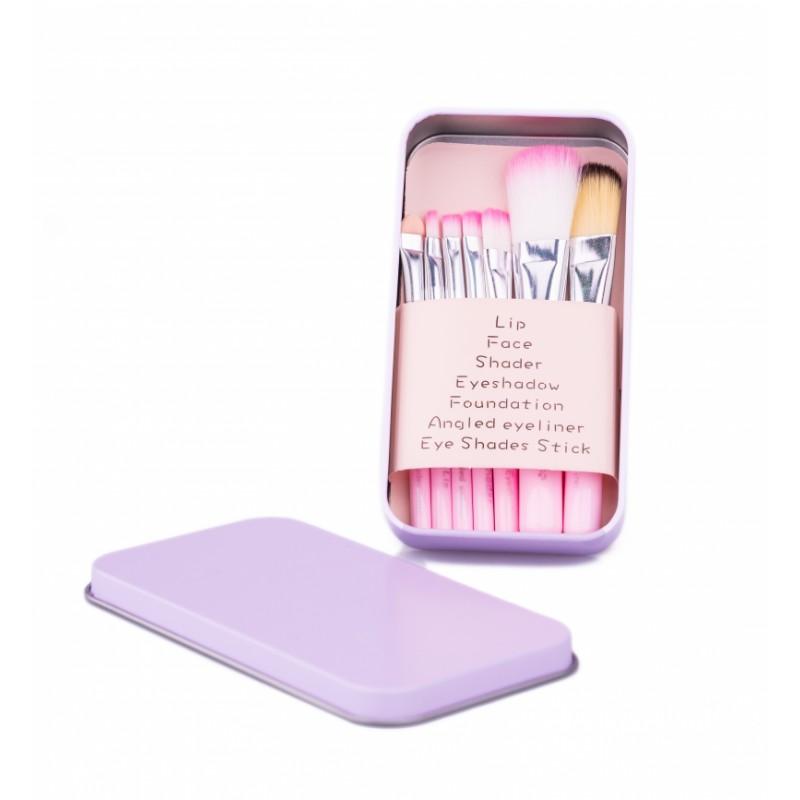 Basics Essential Makeup Brushes Pastel Pink
