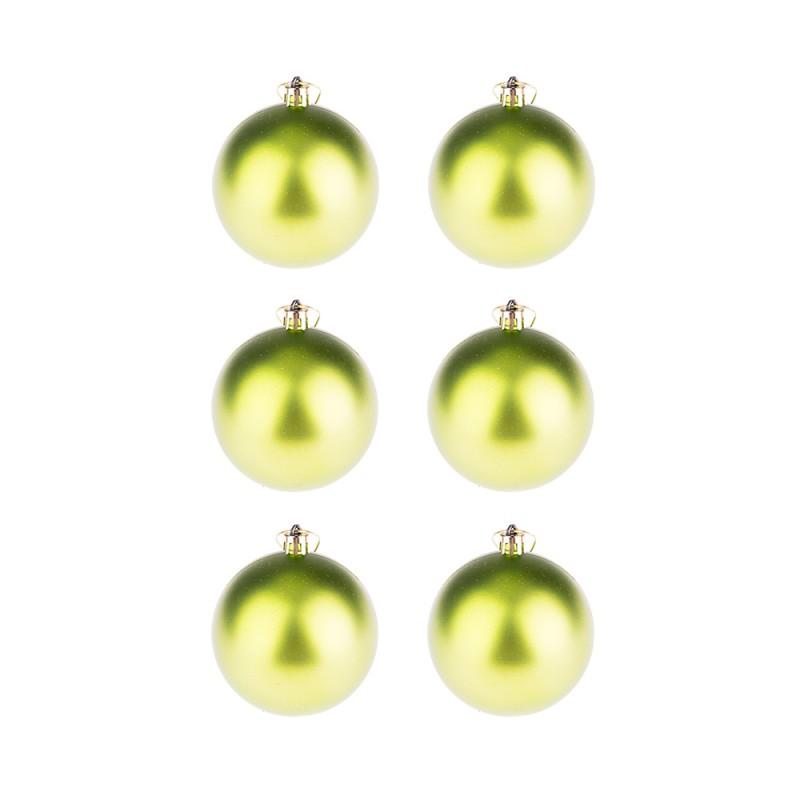 BasicsHome Julekugler Mat Grøn 8 cm
