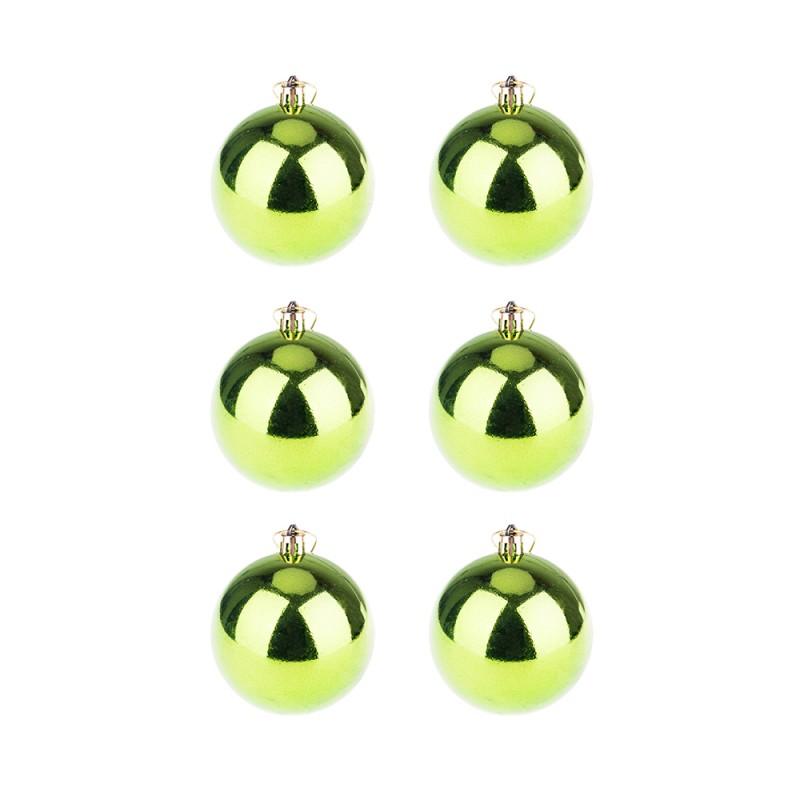 BasicsHome Christmas Ball Ornaments Shiny Green 8 cm