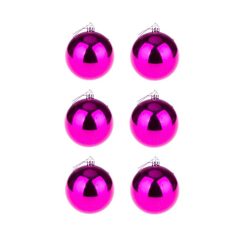 BasicsHome Julekugler Shiny Pink 8 cm