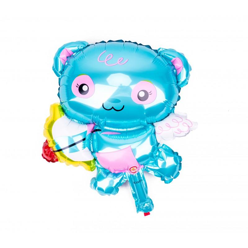 BasicsHome Folie Figur Ballon Mini Amor Blå Bjørn