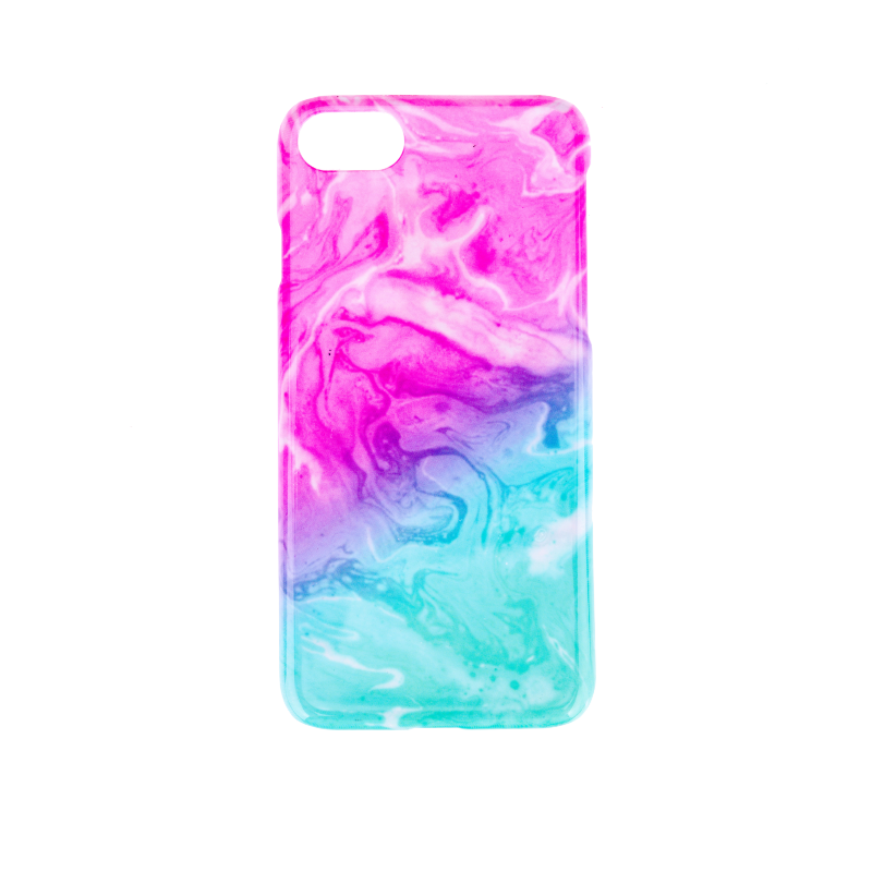 BasicsMobile Galaxy Pink & Blue iPhone 7/8 Cover