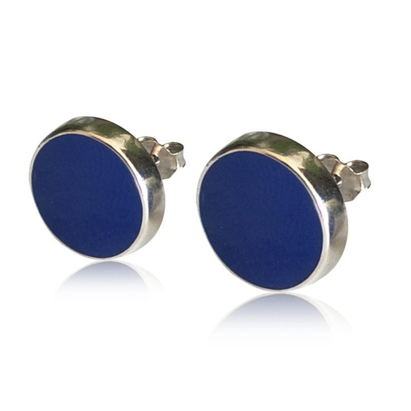 Everneed Liva Dots Earrings Deep Blue