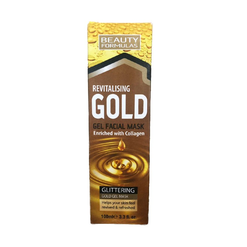 Beauty Formulas Revitalising Gold Gel Facial Mask