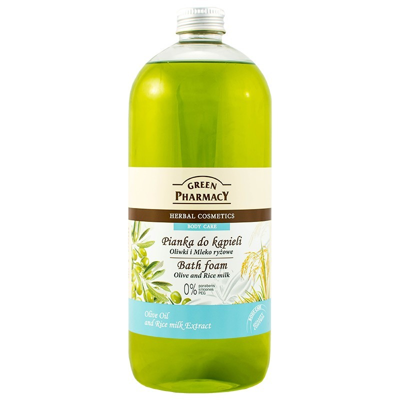 Green Pharmacy Olive & Rice Milk Bath Foam