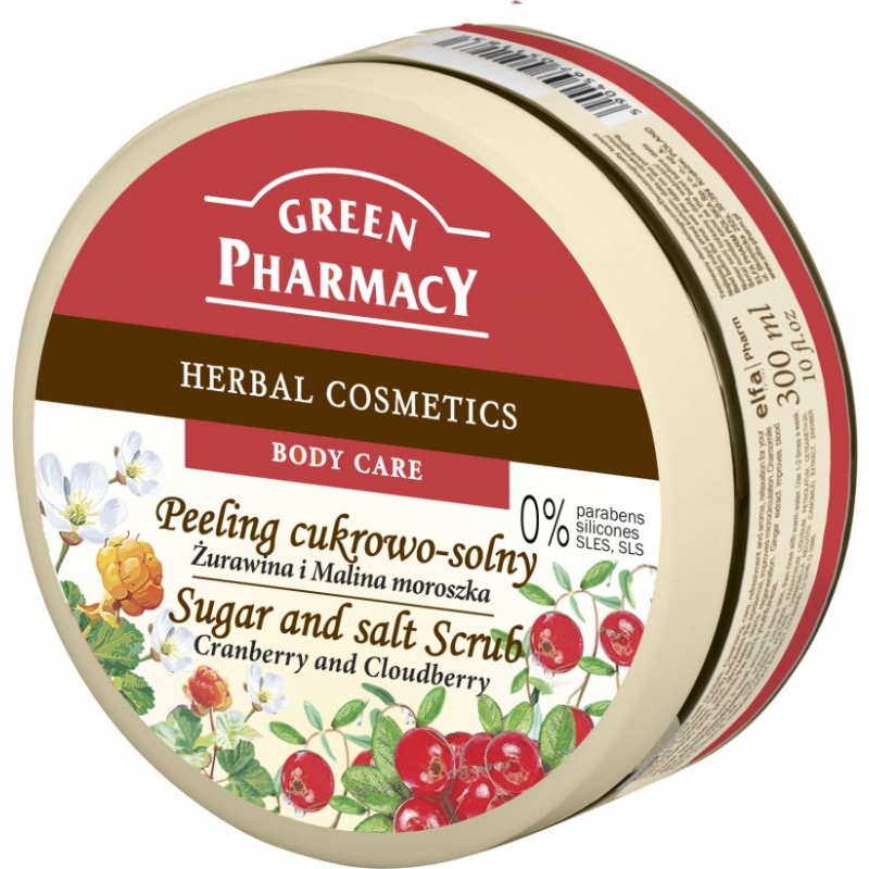 Green Pharmacy Cranberry & Cloudberry Sugar & Salt Scrub