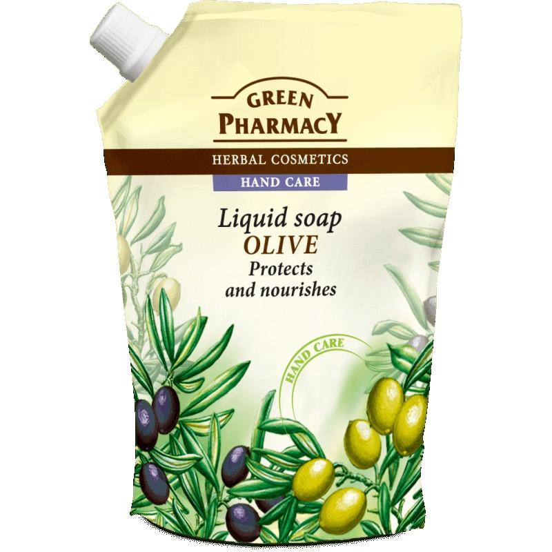 Green Pharmacy Olive Liquid Soap Refill