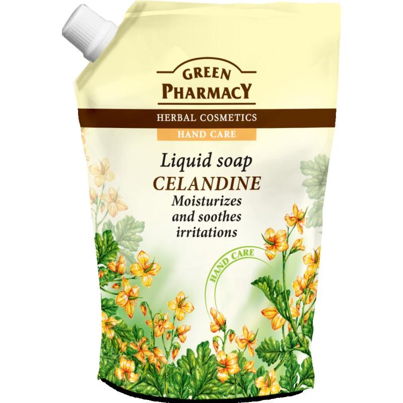 Green Pharmacy Celandine Liquid Soap Refill