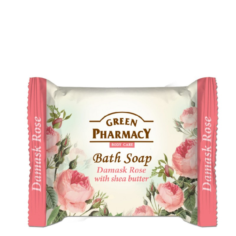 Green Pharmacy Damask Rose Bath Soap