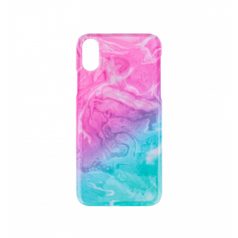 BasicsMobile Galaxy Pink & Blue iPhone X/XS Cover