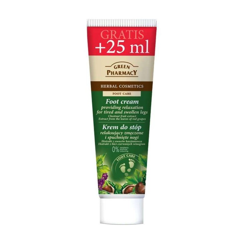 Green Pharmacy Foot Cream Tired & Swollen Legs