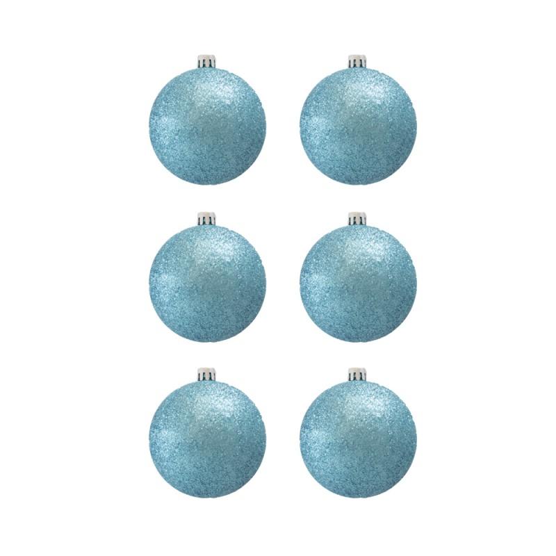 BasicsHome Christmas Ball Ornaments Metallic Light Blue 8 cm
