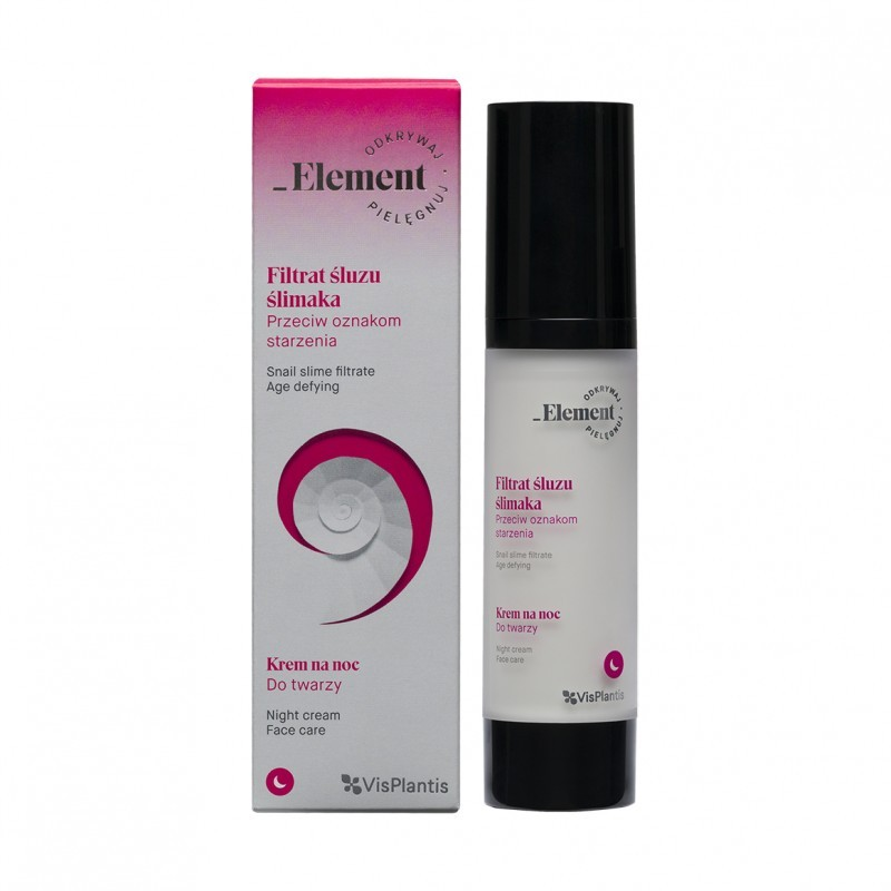 Element Snail Slime Age Defying Night Cream SPF15