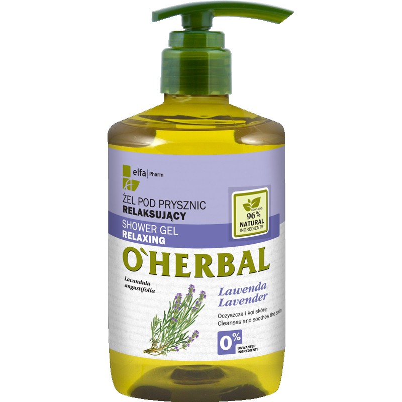 O'Herbal Relaxing Shower Gel Lavender Extract