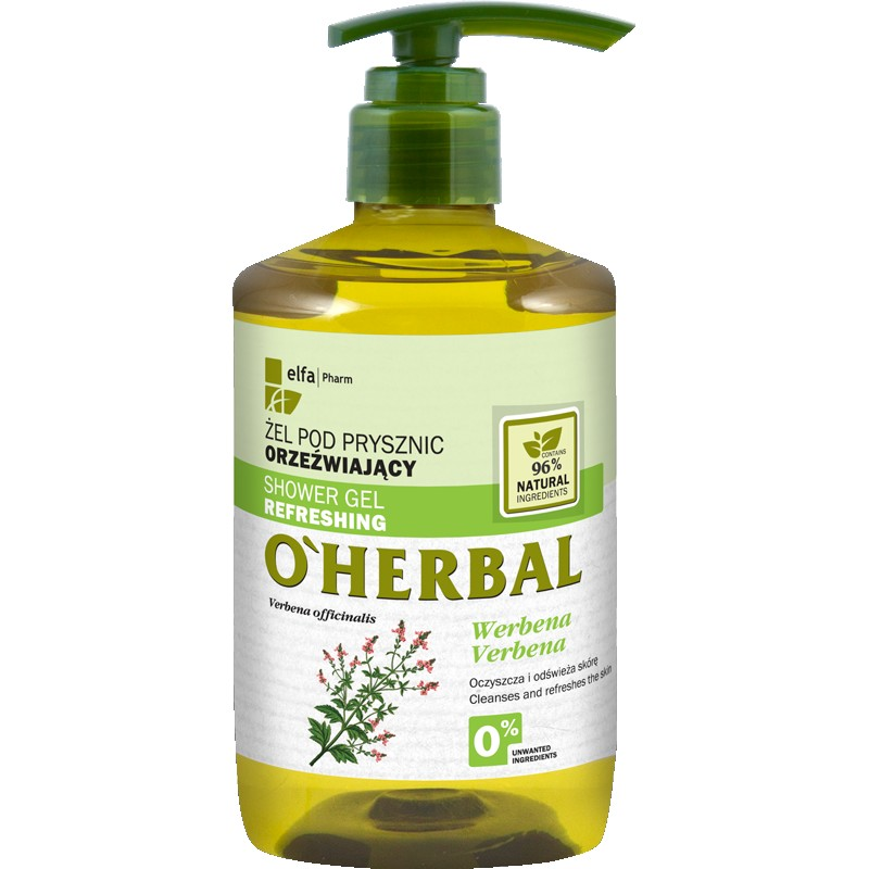 O'Herbal Refreshing Shower Gel Verbena Extract