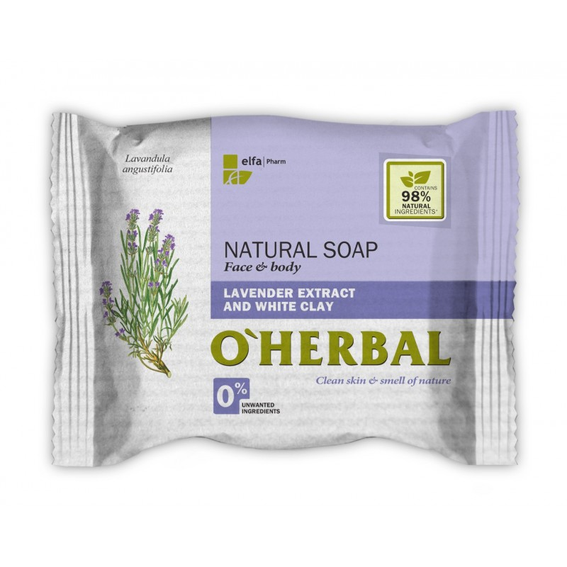 O'Herbal Lavender & White Clay Soap