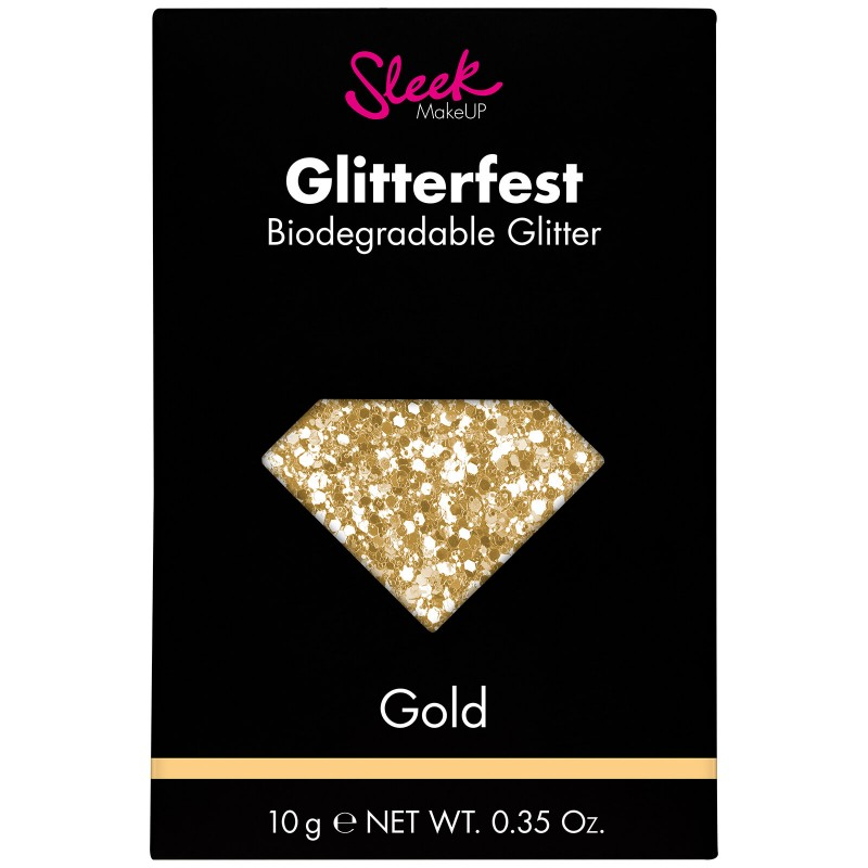 Sleek Makeup Glitterfest Biodegradable Glitter Gold