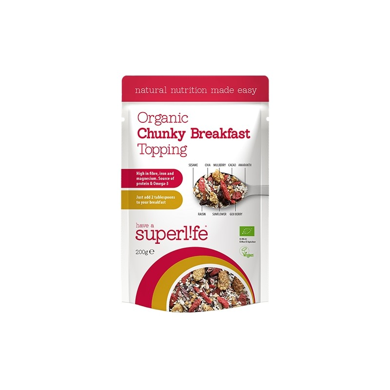 Have a Superlife Organic Breakfast Topping - Chunky