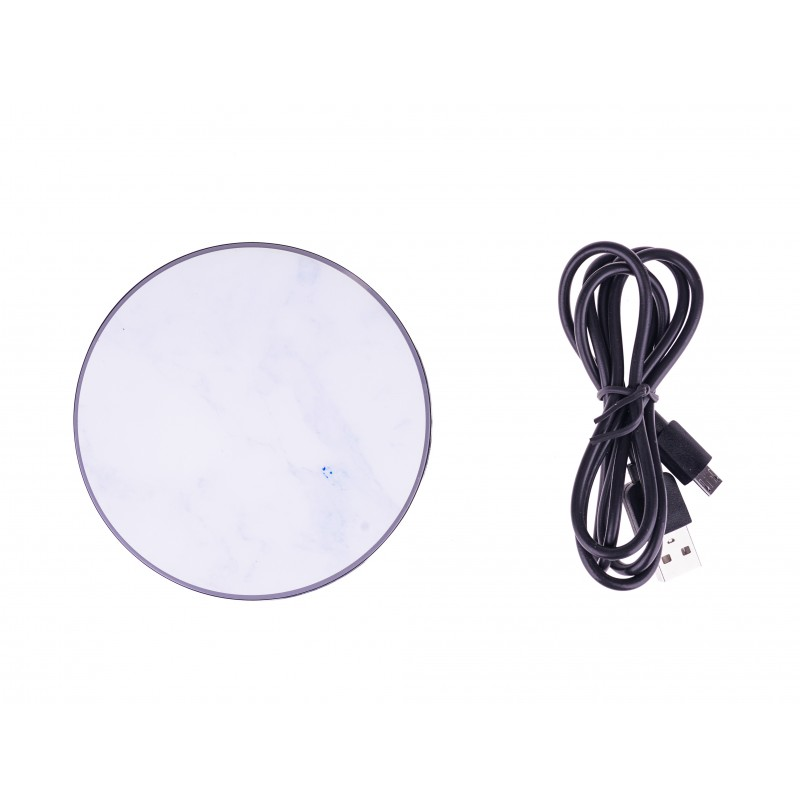 BasicsMobile Wireless Charger White Marble