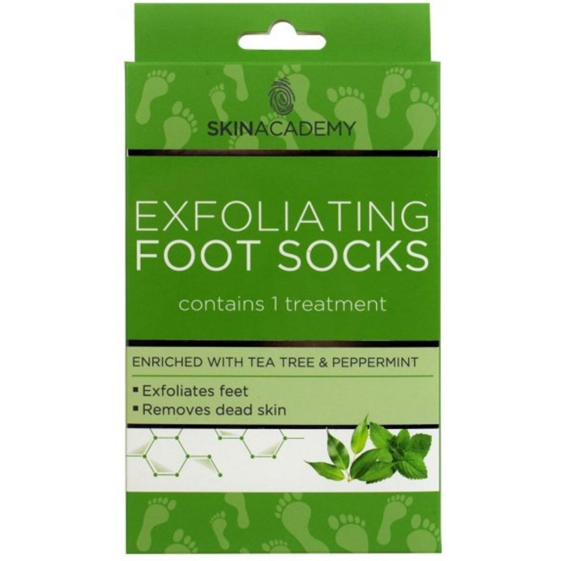 Skin Academy Exfoliating Foot Socks Tea Tree & Peppermint