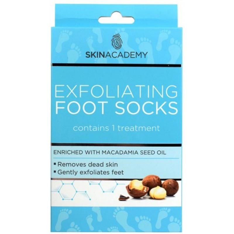 Skin Academy Exfoliating Foot Socks Macadamia Nut