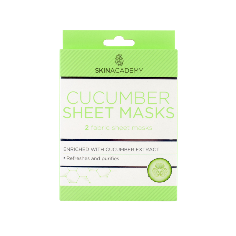 Skin Academy Cucumber Sheet Masks