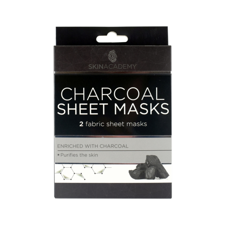 Skin Academy Charcoal Sheet Masks