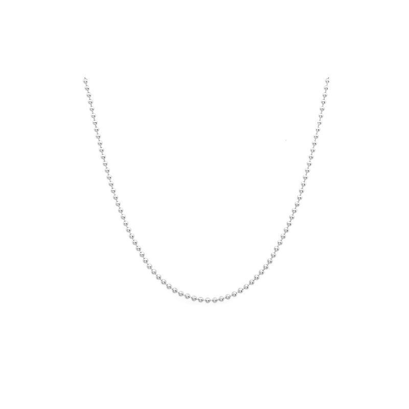 Everneed Ball Chain Halsband Silver 60 cm