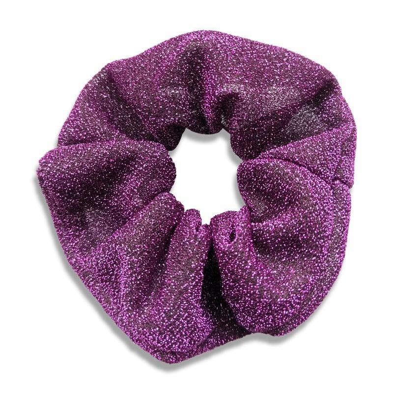 Everneed JoJo Shimmer Scrunchie Purple Fun