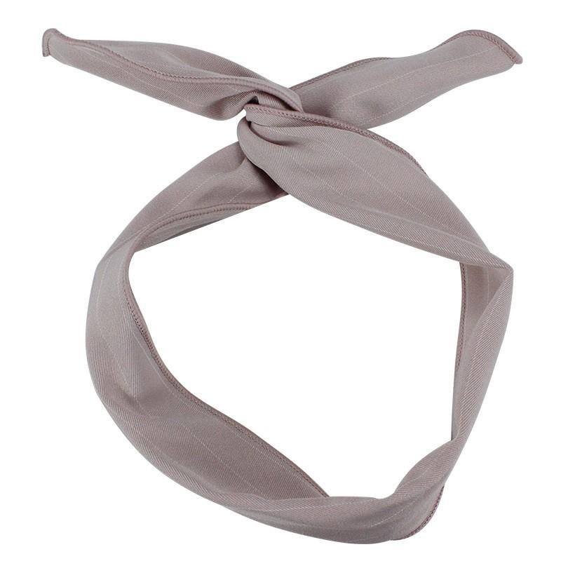 Everneed Karmen Hårtørklæde Taupe Med Nålestriber