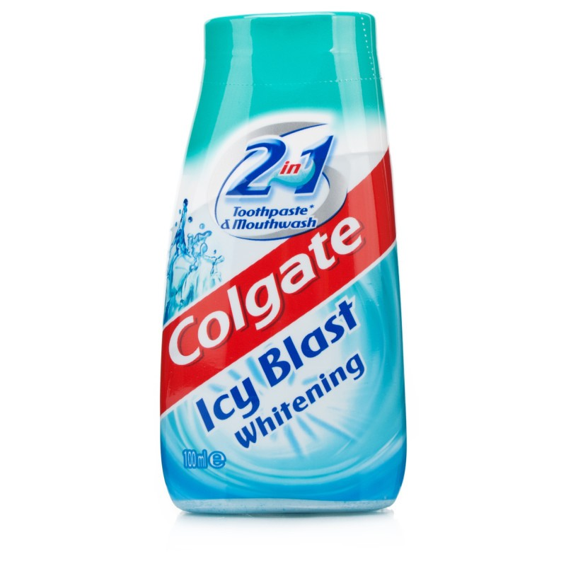 Colgate 2in1 Icy Blast Toothpaste & Mouthwash