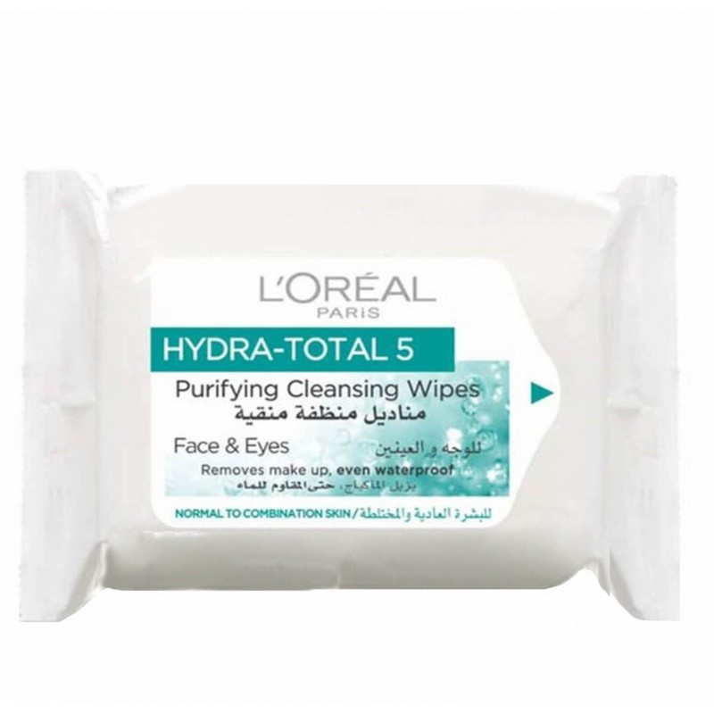 L'Oreal Hydra Total 5 Purifying Cleansing Wipes