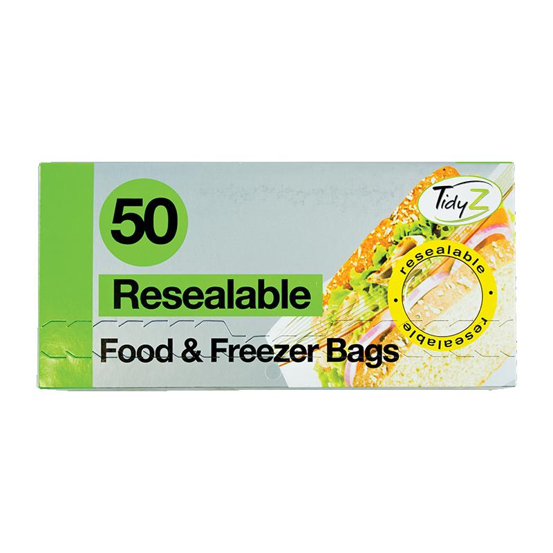 TidyZ Resealable Food & Freezer Bags