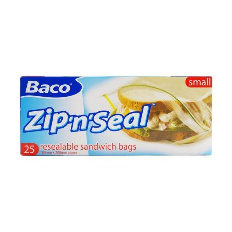 Bacofoil Zip & Seal Resealable Bags Small