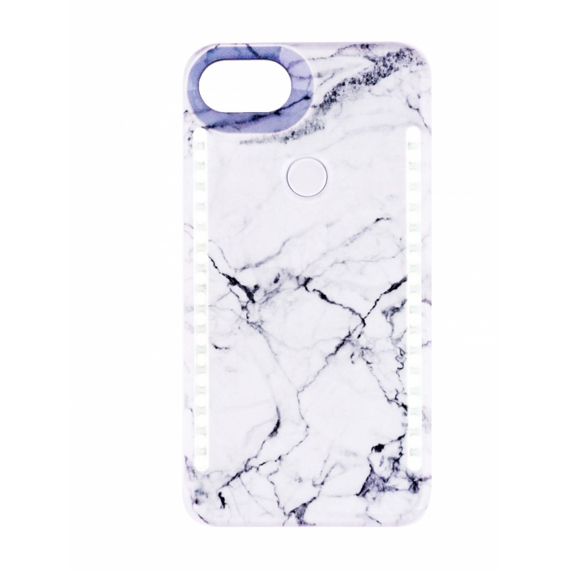 BasicsMobile Selfie Cover White Marble iPhone 7/8