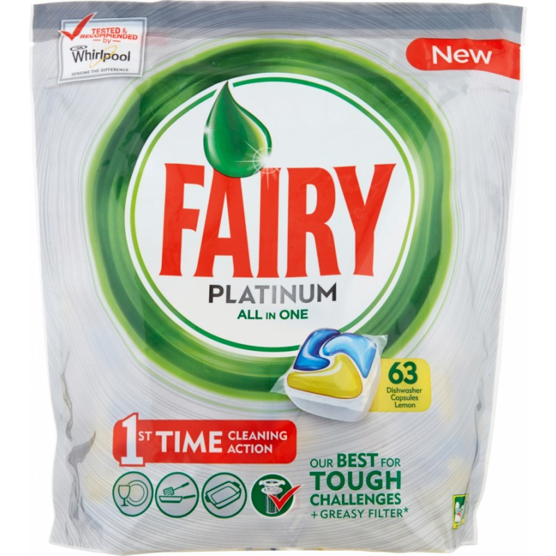 Fairy Platinum All in One Dishwasher Tablets