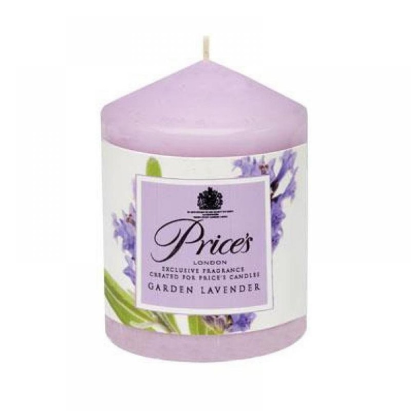 Price's Scented Pillar Candle Garden Lavender