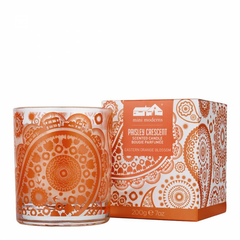 Mini Moderns Paisley Crescent Scented Candle Eastern Orange Blossom