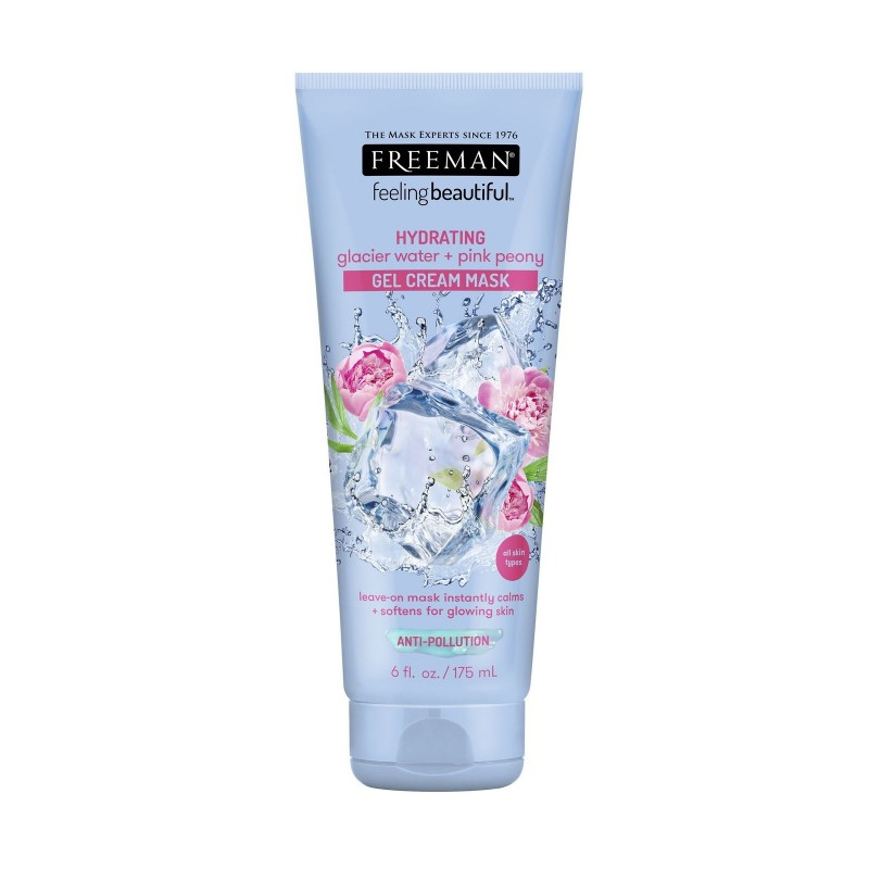 Freeman Hydrating Glacier Water & Pink Peony Gel Cream Mask
