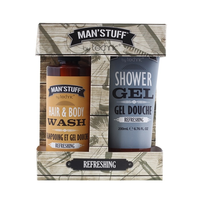 Man'Stuff Refreshing Shower Gel & Hair & Body Wash