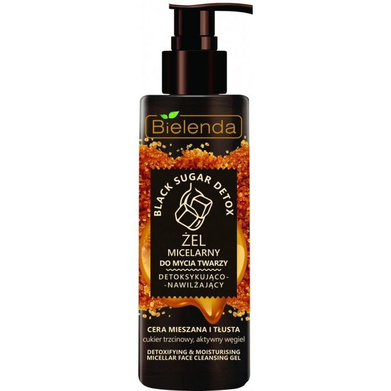 Bielenda Black Sugar Detox Detoxifying Micellar Cleansing Gel