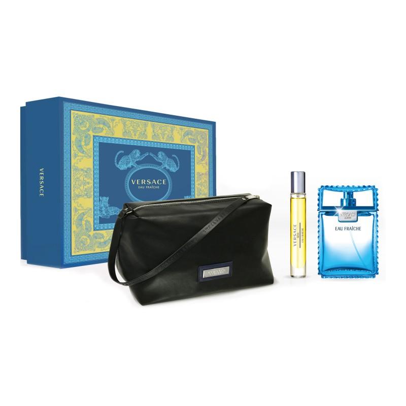 Versace Man Eau Fraiche EDT & EDT Mini & Toiletry bag