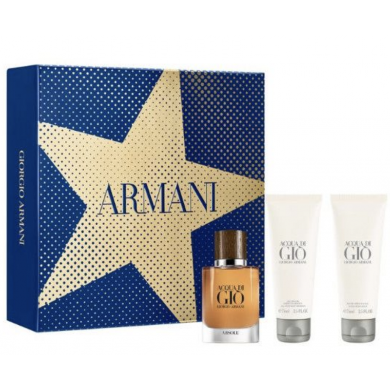 Giorgio Armani Acqua Di Gio Absolu EDP & Shower Gel & Aftershave Balm