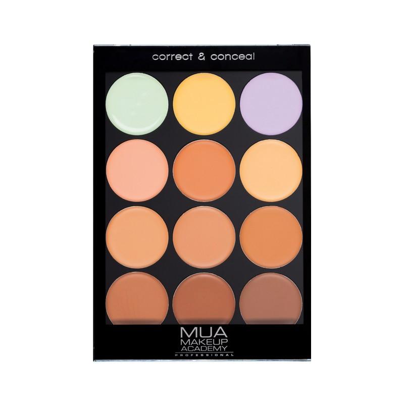 MUA Makeup Academy Correct & Conceal Palette Warm