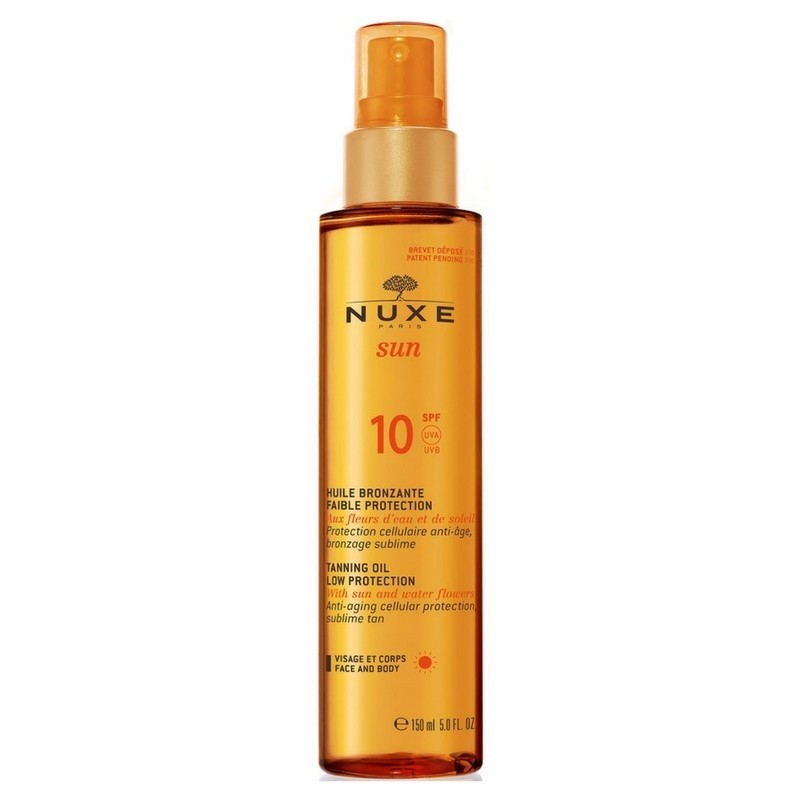 Nuxe Sun Tanning Oil Low Protection SPF10